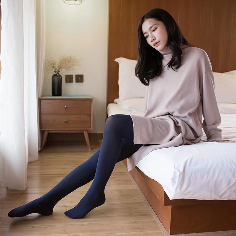 왕 이 엄 선 된 레 깅 스 클래식 한 배합 초 유 가을 겨울 3 켤레 복장 80D 블랙 3 켤레