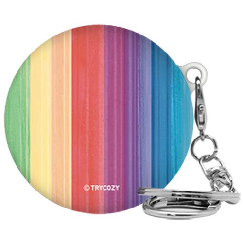 트라이코지 레인보우 3D 곡면 LG 톤플러스 프리 이어폰 하드케이스 + 고리, 단일상품, 002