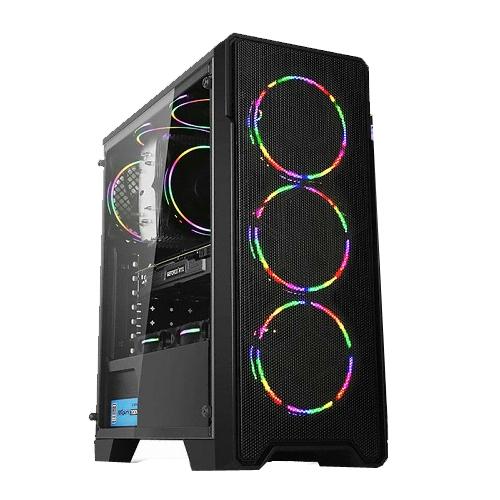 대한컴퓨터샵 게이밍 조립PC 블랙 (라이젠5-2600X WIN10 RAM 8GB SSD 240GB GTX 1050), 단일상품, 기본형