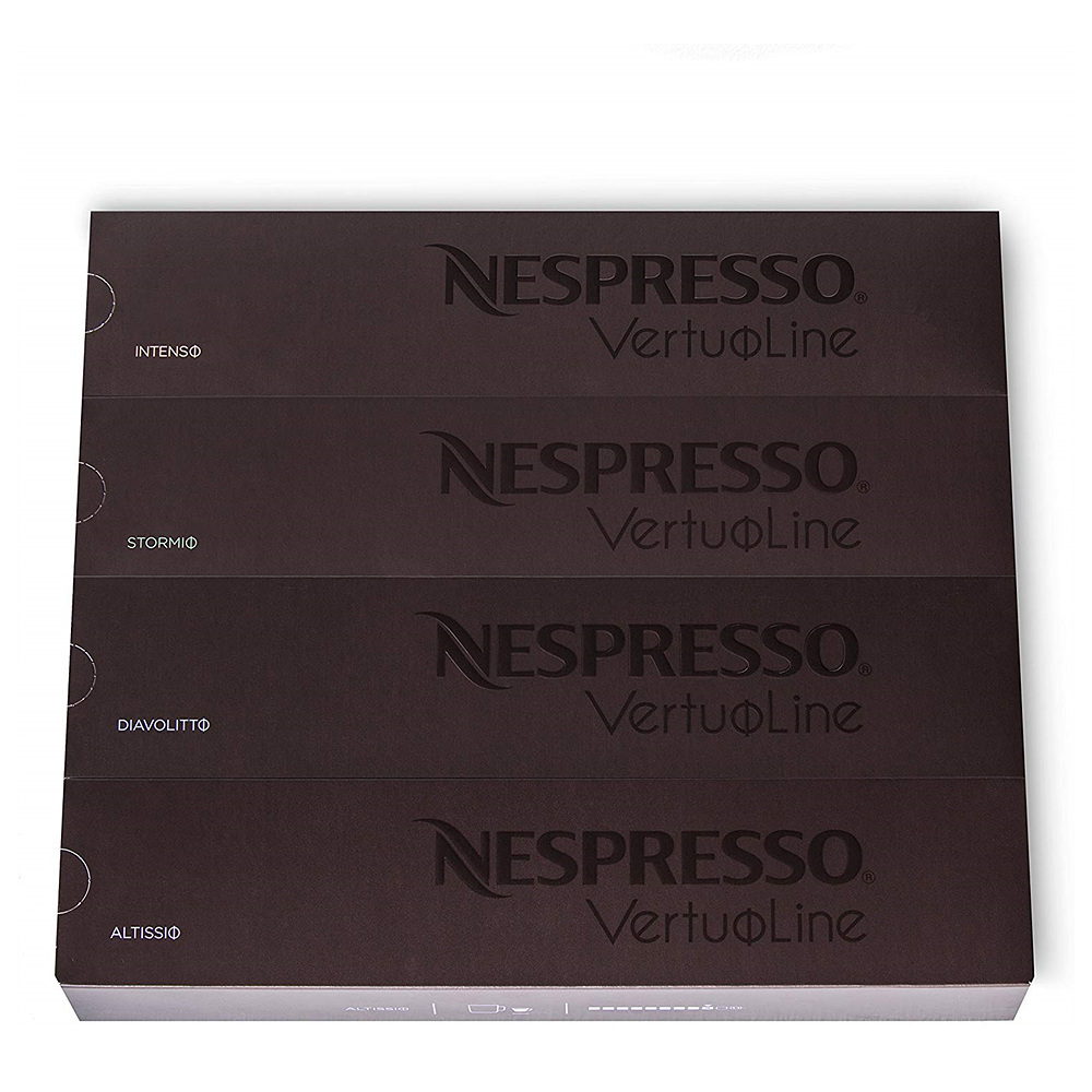 Nestle Nespresso 네스프레소 [버츄오] 다크 버라이어티 팩 40ct [Vertuo] Dark Assortment Variety Pack, 1세트