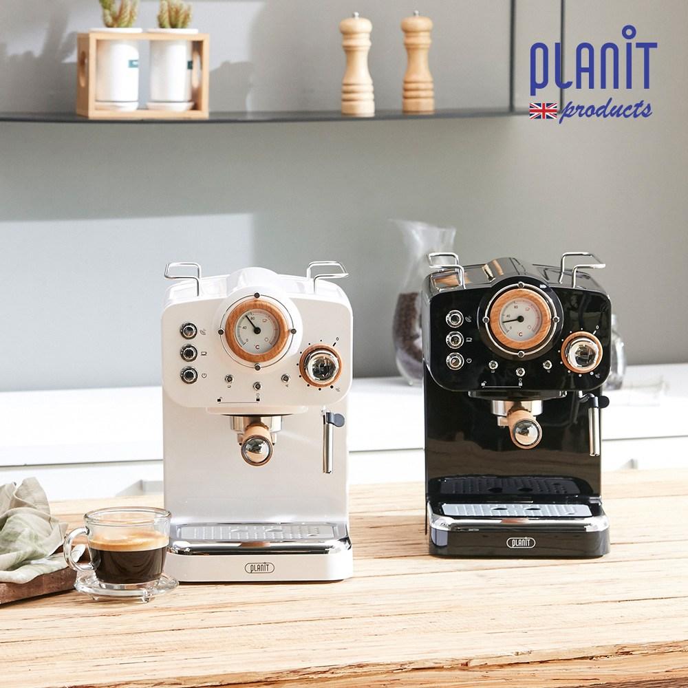 플랜잇 커피머신 홈카페프레소 노르딕 PCM-NF15, 커피머신 노르딕 우드화이트