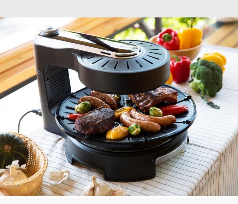 Qita 자이글 고기불판 다용도 전기그릴 연기안나는그릴, 단일상품